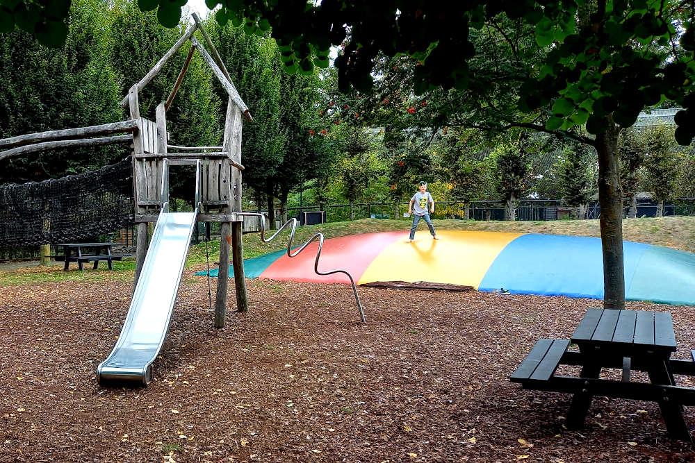 Spelen in kasteelpark Born