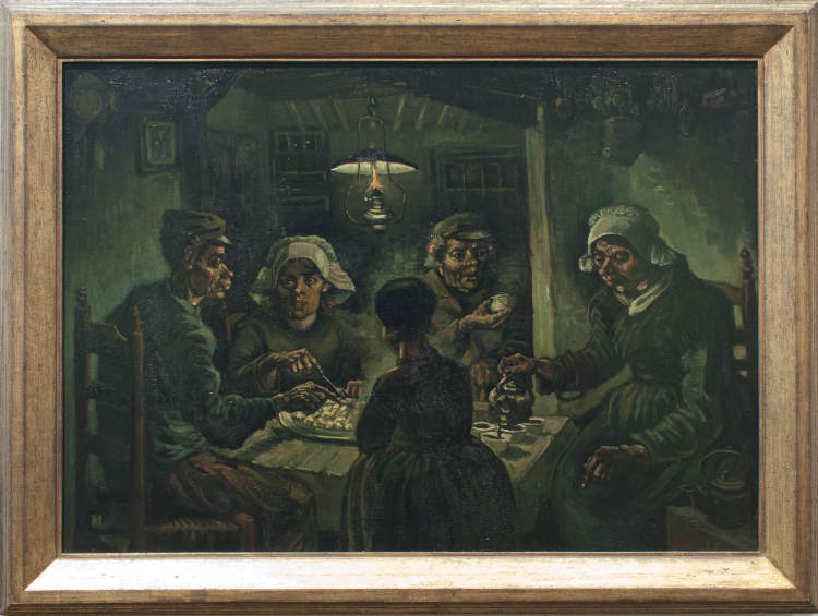 De aardappeleters van Vincent van Gogh in Nuenen