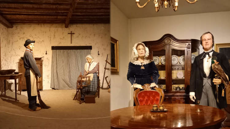 Opstelling van boeren- en valkenierskamer in het Valkerij Museum in Valkenswaard