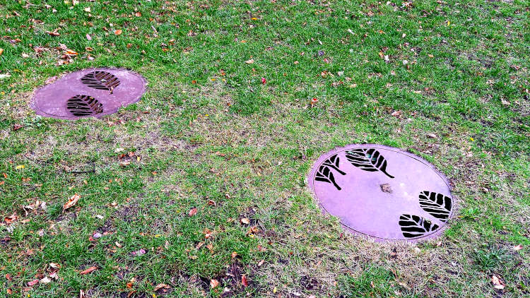 Terra Nicotiatum Tabacum van kunstenaar Hans van Lunteren in het Frans van Bestpark in Valkenswaard