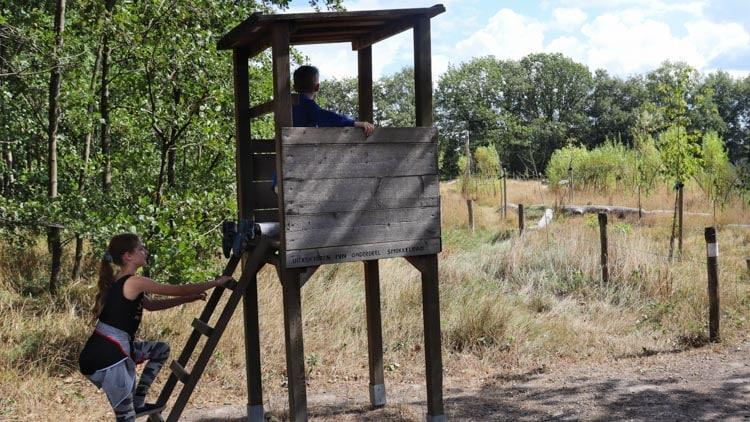 Uitkijktoren bij het smokkelpad in Velden.