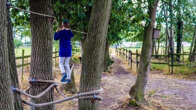 Ongezien tussen de bomen door bij het Smokkelpad in Velden