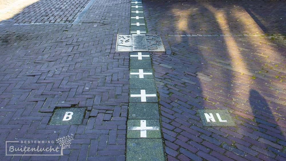 grens tussen Belgie en Nederland in Baarle