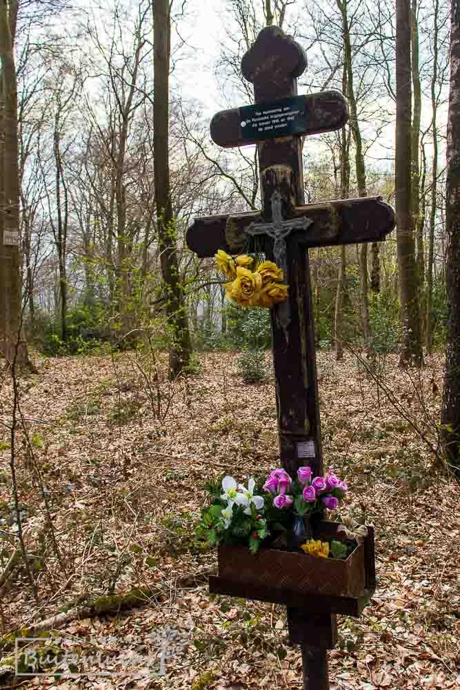 Russisch kruis in Vijlenerbos op de grens met België